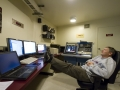 Paul Smith, an astronomer for the UA's Steward Observatory, takes a short nap toward the end of his observing shift at the Kuiper 61-inch, a telescope atop Mount Lemmon. (Kyle Mittan / Arizona Sonora News)