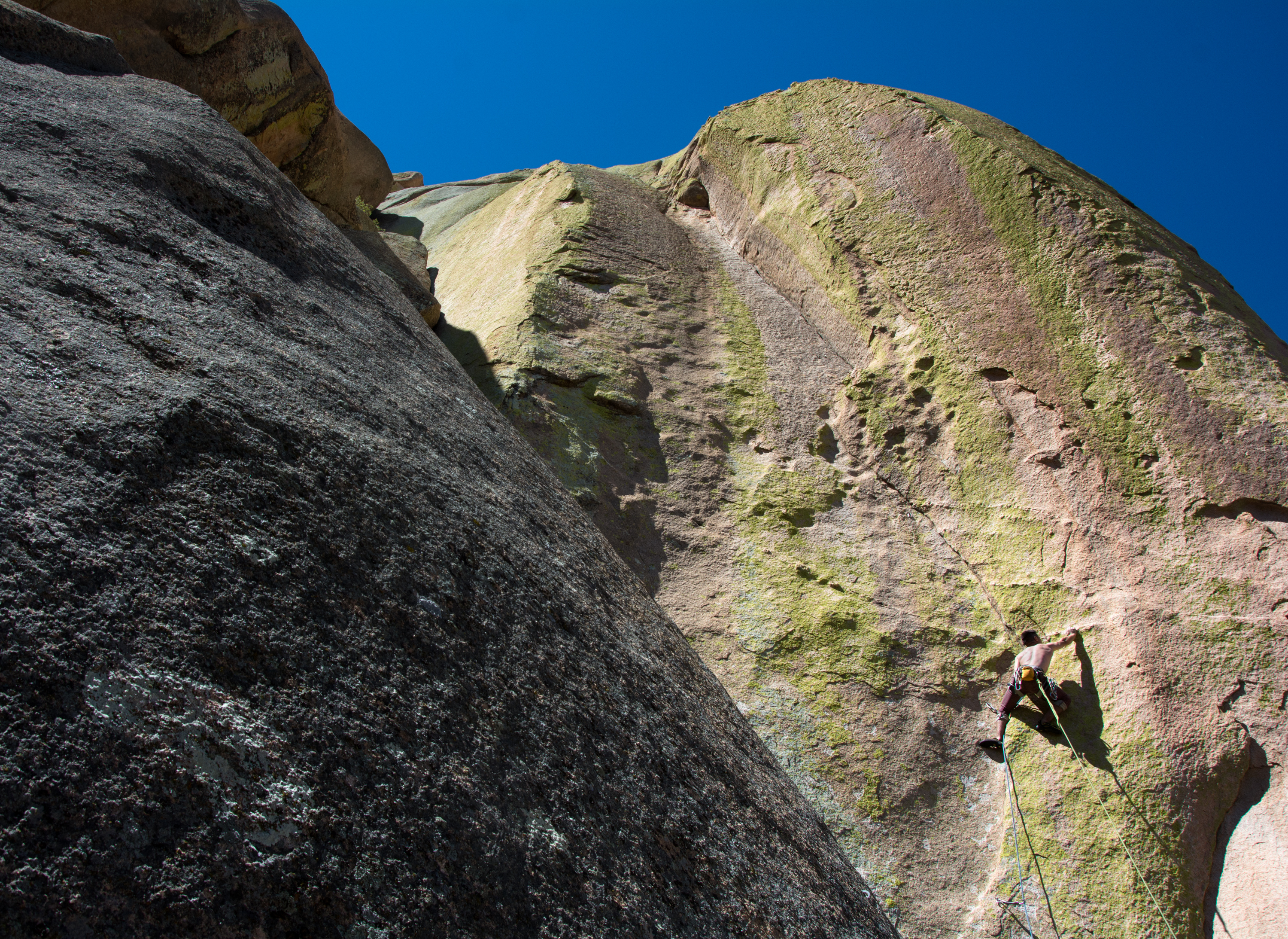 Rock climbing at Cochise Stronghold amid the spirit of the Apache