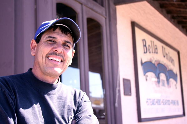 Real estate investor Ruben Suarez still has high hopes of contributing toward Tombstone's history despite an ongoing bankruptcy. The Bella Union, background, is his most treasured asset, one he says aligns with his love of the town's history. (Photo by Kevin Zimmerman/ASNS)