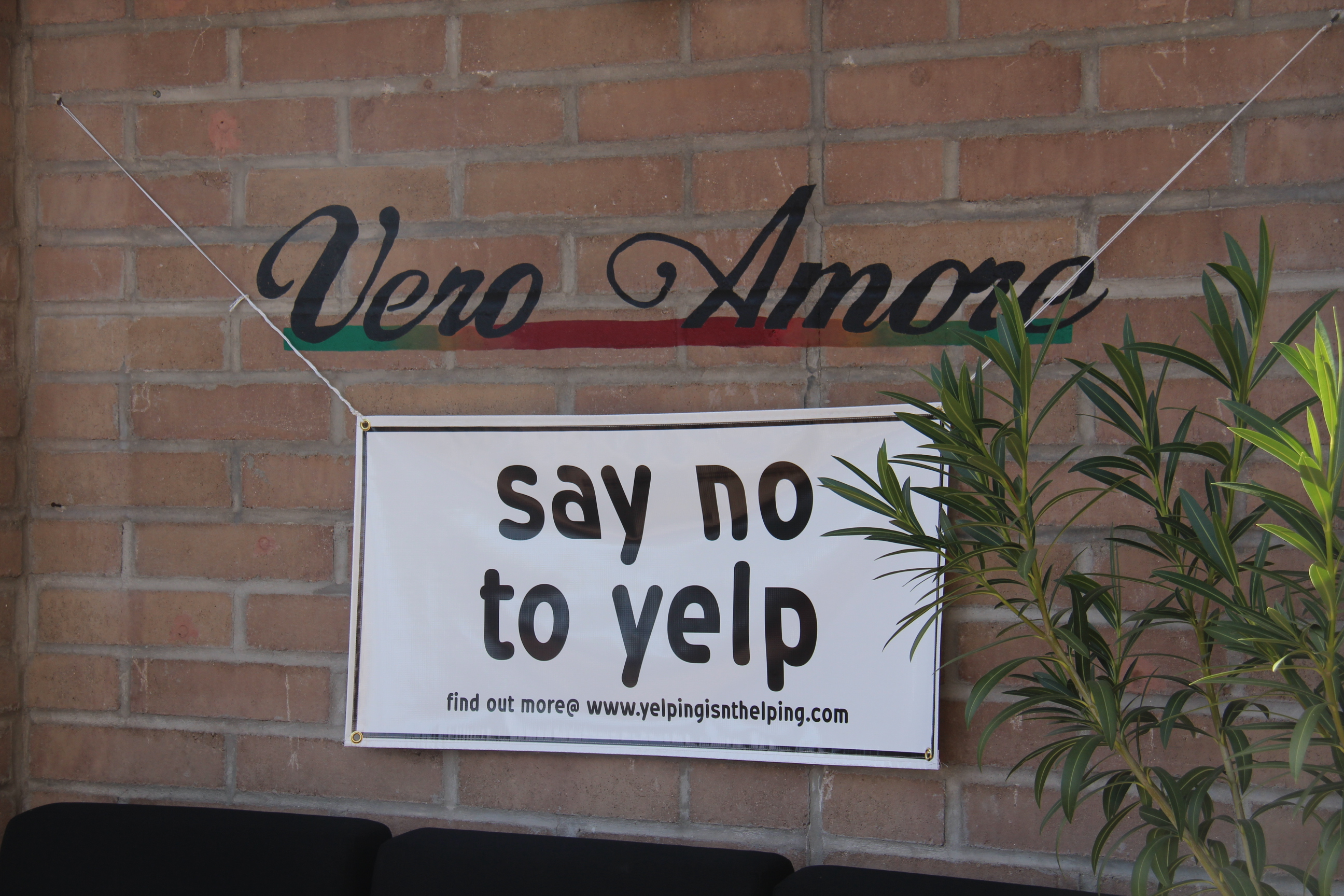 say no to yelp sign (Sarah Pelfini/Arizona Sonoran News)