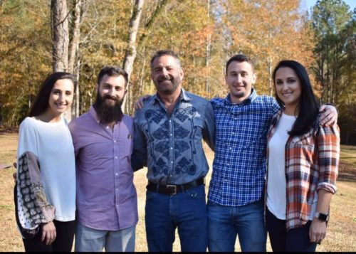Photo of Ronnie with his four children on Thanksgiving Day, 2019. Left to right: Heather, 23, Marc, 27, Ronnie, 65, Evan, 21, Becky, 30. (Photo courtesy of Rich family).