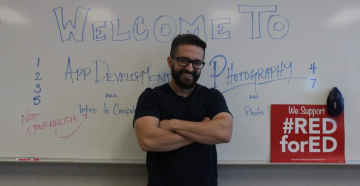 James Bourland recently switched from teaching journalism to teaching photography and coding. (Photo by Nicholas Trujillo).