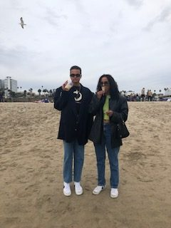 Javaughn and I on our trip to Los Angeles during spring break before the lockdowns and the closures. (Photo by Emma Muigai/El Inde).