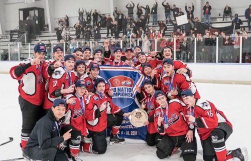 Andrew DeCarlo and his Selects Academy teammates after they won the 2018 National Championship in West Goshen, Pennsylvania. (Photo courtesy of Lorena DeCarlo).