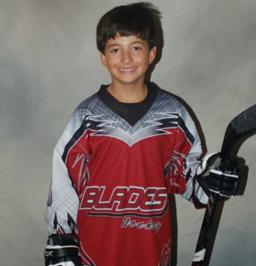 On his seventh birthday, Andrew DeCarlo won his first National Championship playing in the Cub division of the AAU Inline Junior Olympics in Taylor, Michigan. (Photo courtesy of Michael DeCarlo).