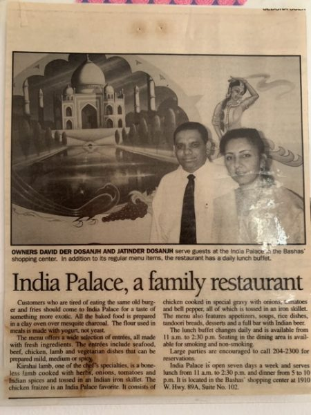 "The Dosanjhs pictured in a news story about their family restaurant, ""India Palace."" (Photo courtesy of the Dosanjh family)"