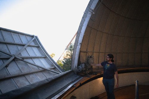 "After the dome is open, Fuls is locked in and observing the galaxy for up to 12 hours overnight while searching for near-Earth objects. Fuls' primary goal when getting his masters degree was to make the telescopes more accessible to the public. ""It bugged me that they weren't getting used as much as they could,"" says Fuls. ""We're funded by NASA, so you're paying for it. You should definitely see what you get for your money."""