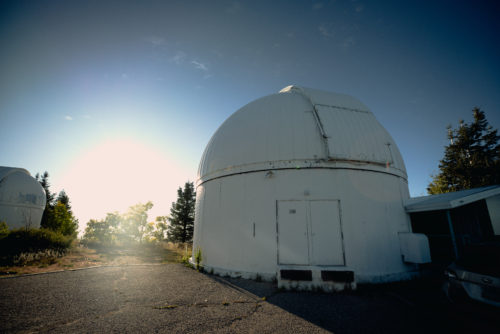 Underneath the dome lies the 60-inch Catalina Sky Survey telescope. The goal of the Sky Survey is to scan the entire sky and trace any near earth objects (NEOs) and asteroids that pass by Earth.