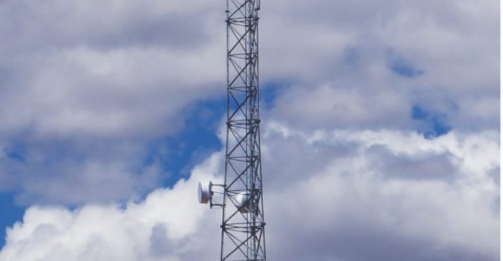 One of the surveillance towers used by Border Patrol along the southwest border. (Photo courtesy of Marion Venditouli).