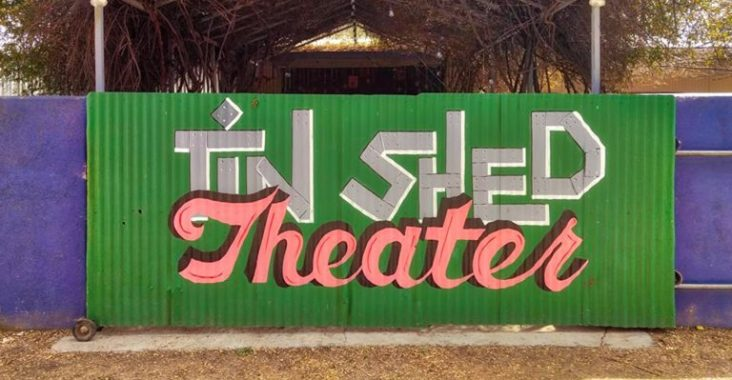 A mural in front of Patagonia's Tin Shed Theater. (Photo courtesy of Patagonia Creative Arts Association).